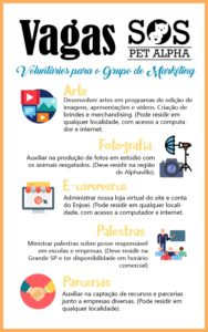 Voluntários para o Grupo de Marketing
